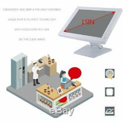15 Lcd Touch Screen LED Monitor withPOS Stand USB Restaurant Retail Bar Pub 2019