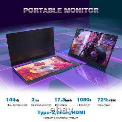 17.3inch 1080P ips144hz portable gaming monitor for Laptop PS4 mobile with stand