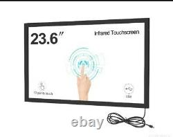 23 inch USB IR Multi touch screen overlay for Dell HP lenovo touch scree LCD