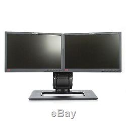2x Lenovo ThinkVision L197wA 19 LCD Monitors with Dual Adjustable Stand Grade B