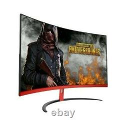 32 inch Curved Wide Screen LCD Gaming Monitor Flexural Panel, Side Bezel-Less HD