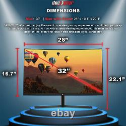 Deco Gear 32 Curved Gaming Monitor 1920x1080 30001 Contrast Ratio, 75 Hz, 6 ms
