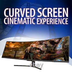 Deco Gear 49 Curved Ultrawide LED 3840x1080 144Hz FreeSync 4ms Gaming Monitor