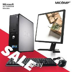 Dell Desktop Computer with LCD Monitor WiFi 8GB RAM 500GB HDD Windows 10 Home
