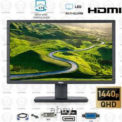 Dell LCD Monitor 27 2560x1440 UltraSharp HDMI DP Widescreen 1440p withcable