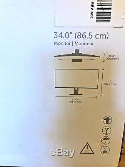Dell U3415W IPS LCD Monitor Excellent Condition! & All Accessories in orig box