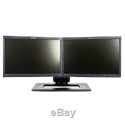 Dual Lenovo L2250p 22 1680x1050 1610 LCD Monitors with Adjustable Stand -Grade A
