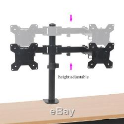 Dual Mount Stand TV Screen Computer Monitor Desk Adjustable Articulating LCD LED
