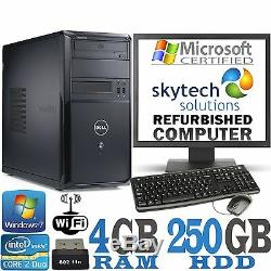 Fast Dell Computer Set Pc Up To 8gb Ram 2tb Hdd Wifi Cheap Windows 7 Monitor