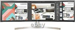 LG 49WL95C-W 49 inch Curved UltraWide HDR IPS LCD Monitor with built-in Speakers