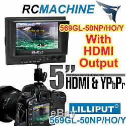 Lilliput 569GL-50NP/HO/Y 5 LCD Video Camera Monitor with YPbPr Input, HDMI In Out