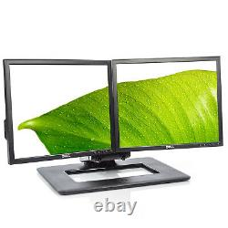 Lot of 2 Dell P190S 19 1280x1024 LCD Monitors with Dual Adjustable Stand -Grade B