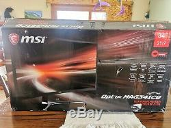 MSI Optix MAG341CQ 34 Inches Curved Ultrawide LCD Gaming Monitor