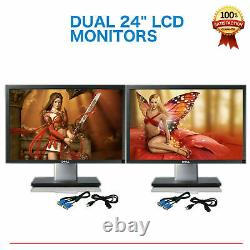 Matching DUAL 24 Widescreen LCD Monitors for Gaming Office PC Major Brands