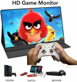 New 15.6 Type-C Mini Screen Display Portable Monitor 1080p HDR & Leather Cover