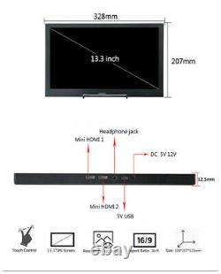 Portable Monitor 13.3 Touchscreen 2560x1440 Full LCD 2K For PS4 Windows 7 8 10