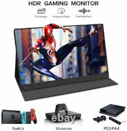 UPERFECT 15.6 Super Thin Portable Gaming Monitor USB-C For Computer Laptop PS4